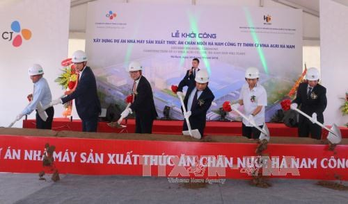 RoK builds 31 mln USD animal feed factory in Ha Nam hinh anh 1