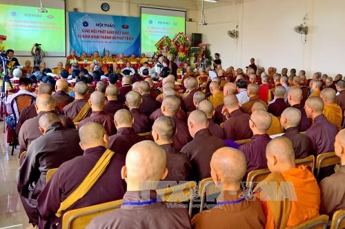 Seminar looks into Buddhist Sangha's 35-year development hinh anh 1