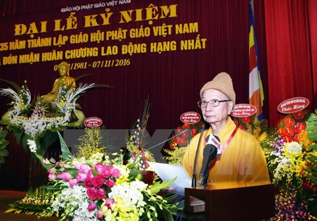 Vietnam Buddhist Sangha marks 35th anniversary hinh anh 1