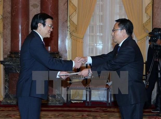 President greets newly-accredited ambassadors hinh anh 1