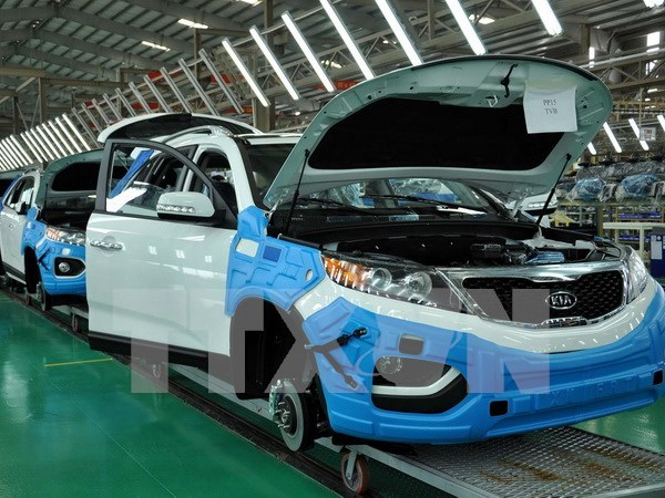 Hanoi industrial production index up 7.4 pct in eight months hinh anh 1