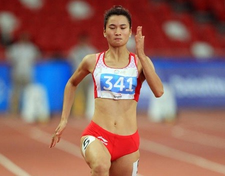 Vietnamese athlete wins 200m gold at Thai Open hinh anh 1