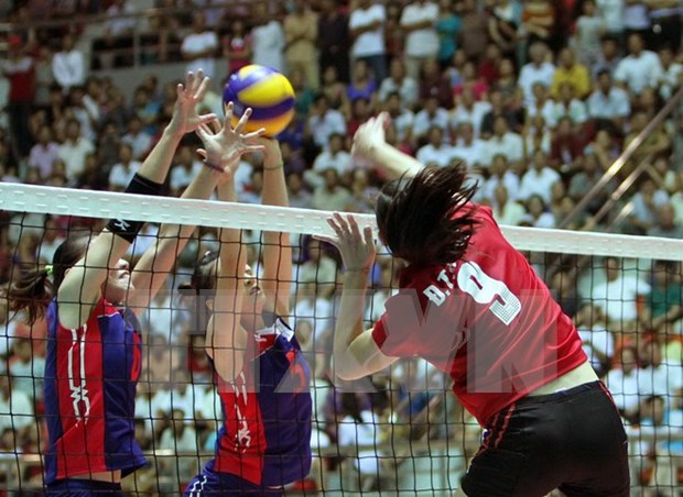 Nine clubs compete for Asian women's volleyball championship hinh anh 1