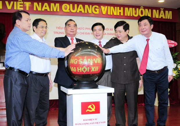 Official website on 12th National Party Congress opens hinh anh 1