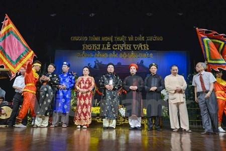 Chau van ritual singing artists given folk awards hinh anh 1
