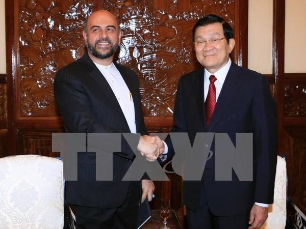 President meets outgoing Iranian Ambassador hinh anh 1