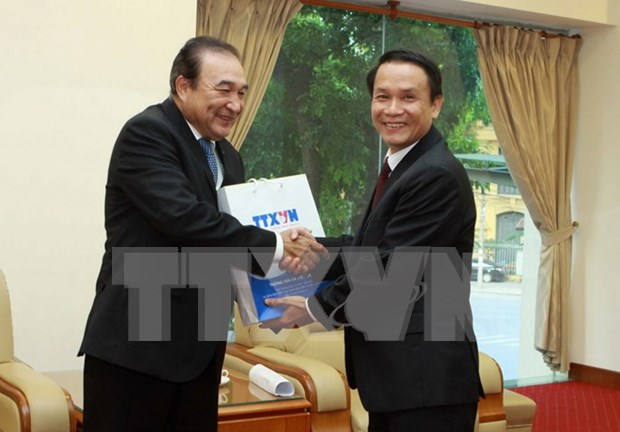 Communication Minister greets Mexican news agency's leader hinh anh 1