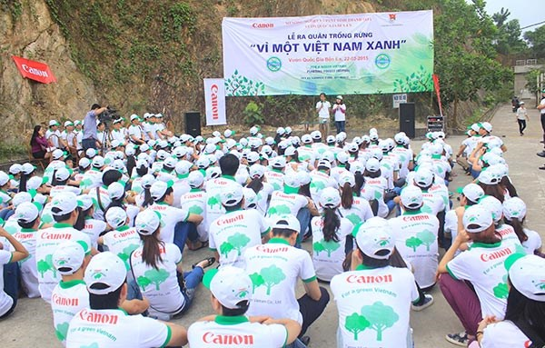 Canon Vietnam launches Shan Tuyet tea tree planting hinh anh 1