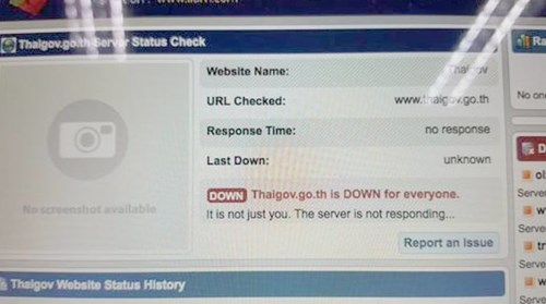 Thai government websites shut down by protestors hinh anh 1