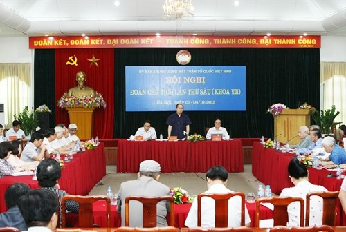 VFF suggests unity-related matters be added to Party Congress draft do hinh anh 1