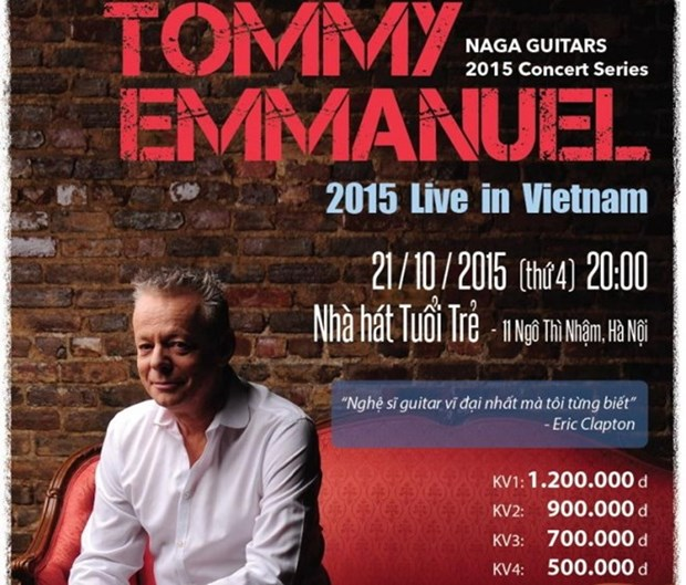 Guitarist Tommy Emmanual to perform in Hanoi hinh anh 1