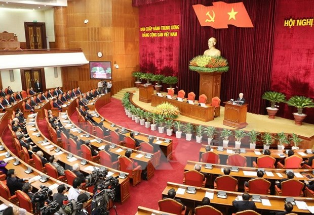 Party Central Committee's 12th meeting completes designed contents hinh anh 1