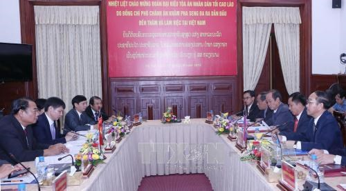 Vietnamese, Lao People's Courts intensify cooperation hinh anh 1