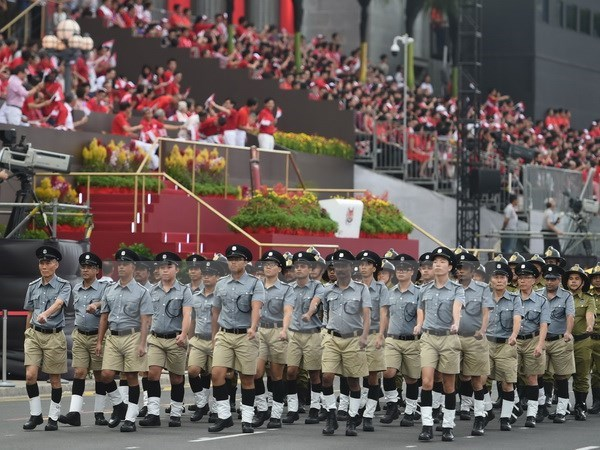 PM attends Singapore's National Day Parade hinh anh 1