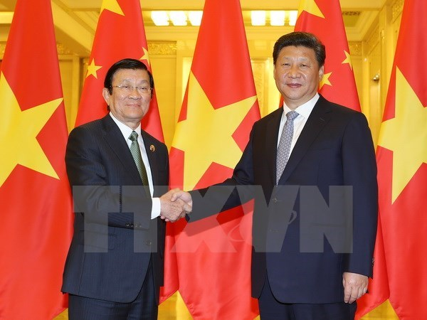 State President meets Chinese leader hinh anh 1
