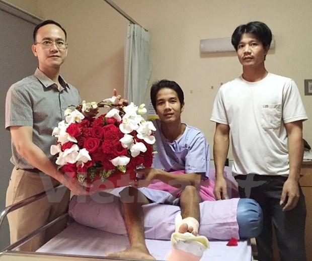 Vietnamese victim in Bangkok bombing returns home hinh anh 1