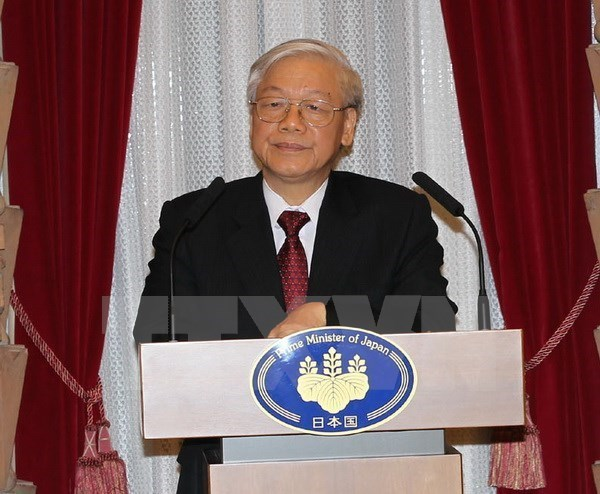 Party General Secretary busy in Japan hinh anh 1