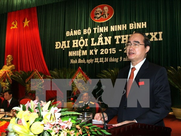 Front leader pins hope on Ninh Binh's higher growth hinh anh 1