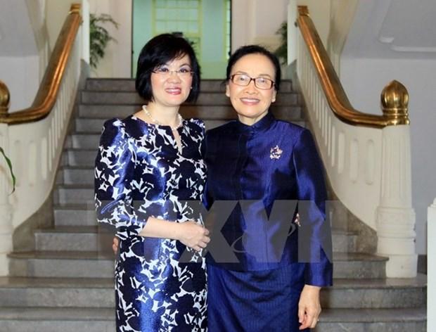 Vietnamese, Lao women enhance solidarity hinh anh 1