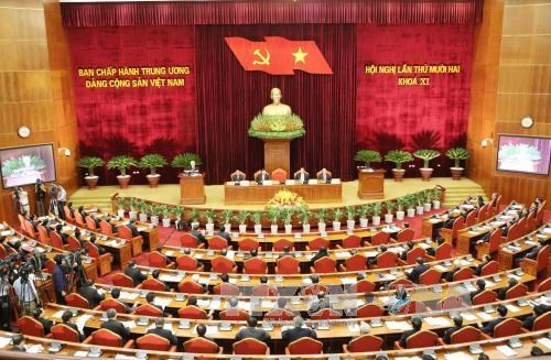 Party Central Committee's 12th meeting opens hinh anh 1