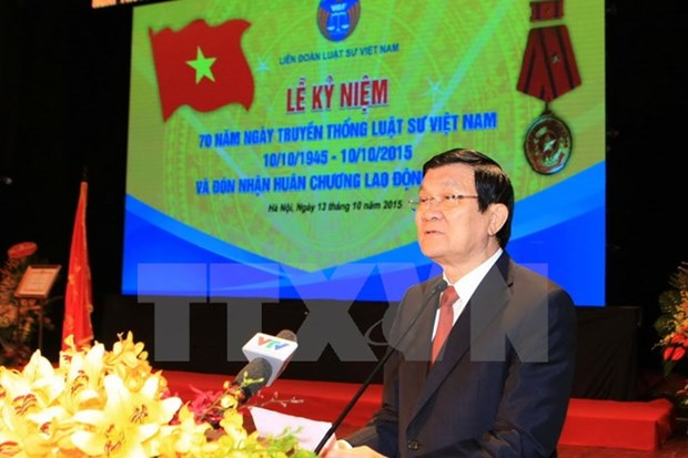 State leader greets lawyers on traditional day hinh anh 1