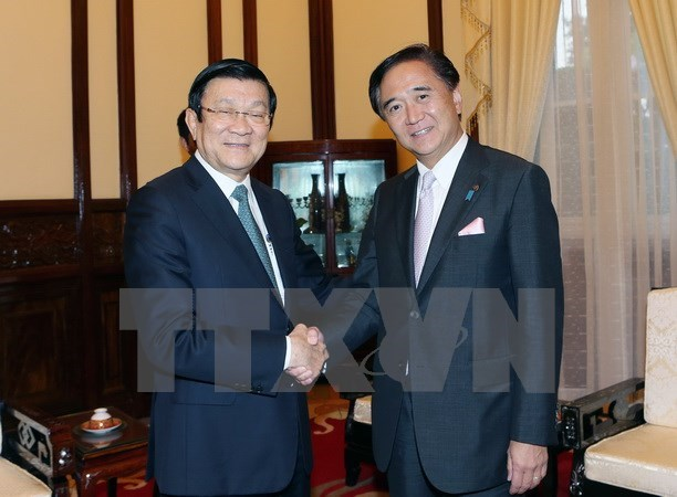 President greets Governor of Japan's Kanagawa prefecture hinh anh 1