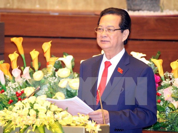 PM presents socio-economic situation at NA session hinh anh 1