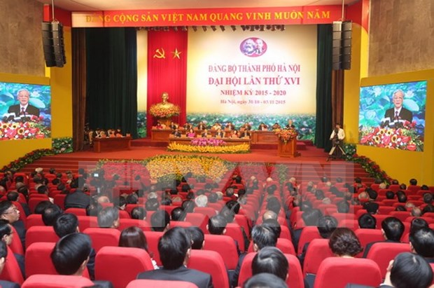 Hanoi's Party Congress approves personnel list for new tenure hinh anh 1