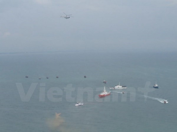 Largest-ever aviation rescue drill practised in Nghe An hinh anh 1