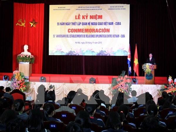 Vietnam-Cuba diplomatic ties celebrated in Hanoi hinh anh 1