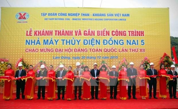 Vinacomin launches Dong Nai 5 hydropower plant hinh anh 1