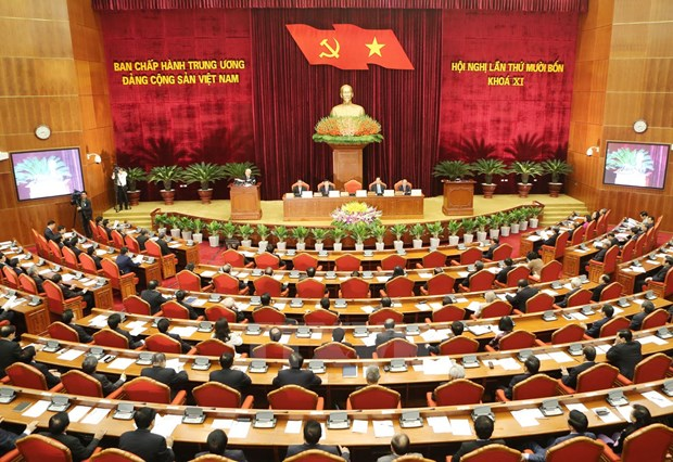 Party Central Committee's 14th meeting opens hinh anh 1