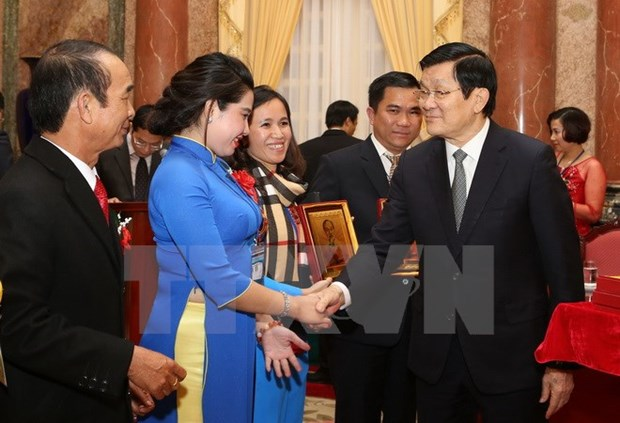 President urges small companies to develop strong brands hinh anh 1