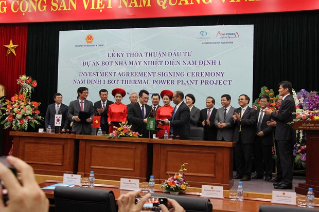 Investment Agreement for Nam Dinh 1 thermal power plant project signed hinh anh 1