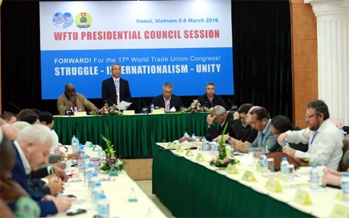 Hanoi hosts WFTU Presidential Council's meeting hinh anh 1