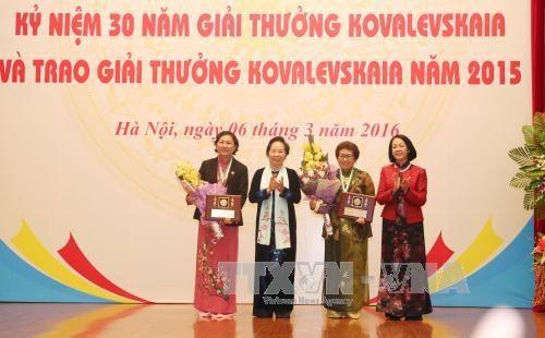 Ceremony marks 30 years of Kovalevskaia Prize in Vietnam hinh anh 1
