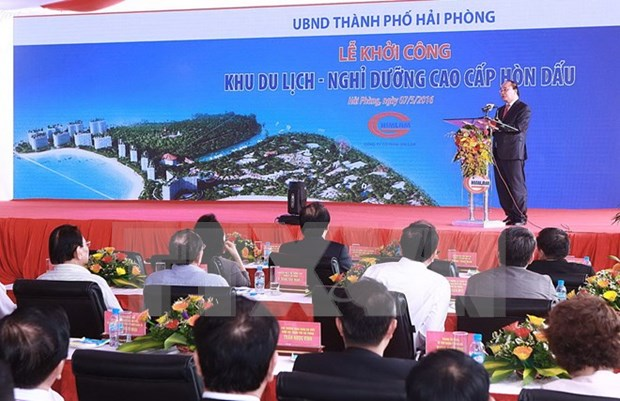 PM attends ground-breaking ceremony for Hon Dau resort hinh anh 1