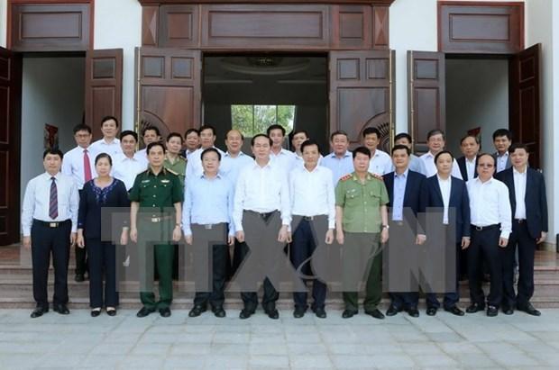 President urges Dien Bien to raise economic growth hinh anh 1
