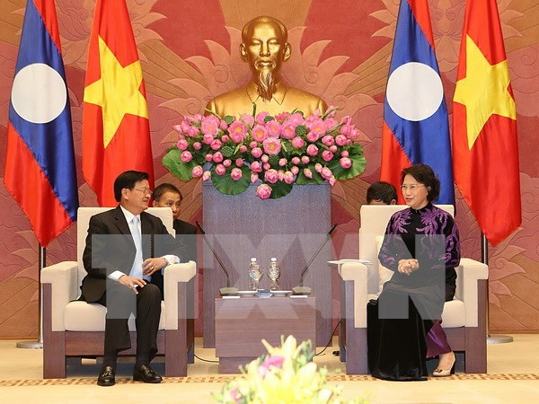 Top legislator meets with Lao Prime Minister hinh anh 1