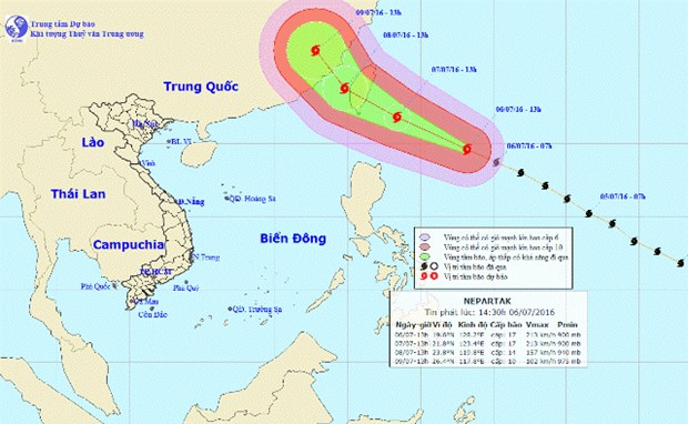 Super typhoon Nepartak to affect Vietnamese waters hinh anh 1