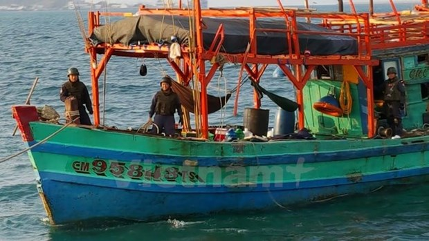 Thai police seize four Vietnamese fishing boats hinh anh 1