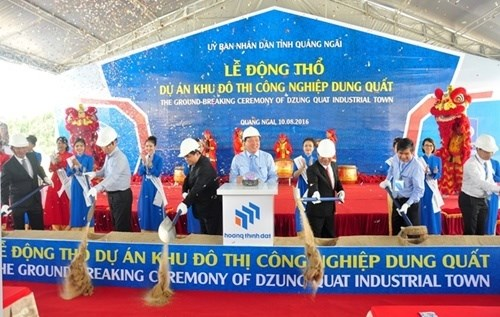 Work begins on Dung Quat project in Quang Ngai hinh anh 1