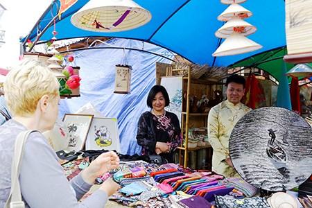 Vietnamese goods introduced at Ukrainian fair hinh anh 1