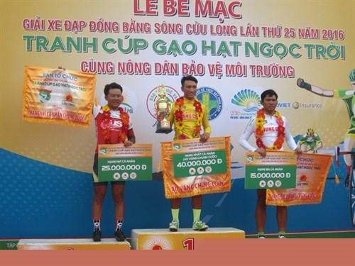 Tam wins Mekong Delta cycling tournament hinh anh 1