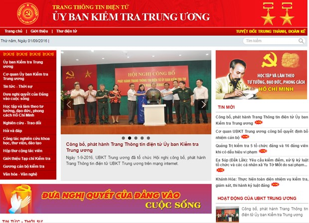 Party's inspection commission launches website hinh anh 1