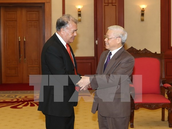 Party leader receives Mexico's Labour Party officials hinh anh 1