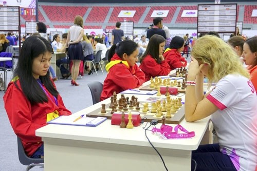 Women's masters taste first loss, men win at Chess Olympiad hinh anh 1