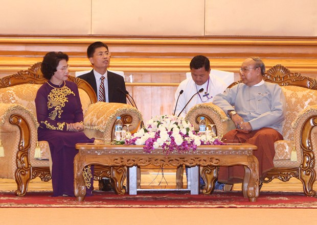 Vietnam's parliament resolved to bolster ties with Myanmar: Chairwoman hinh anh 1