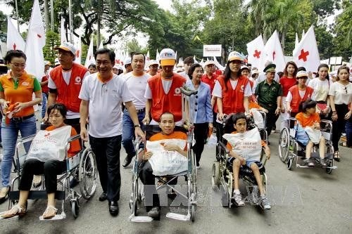 HCMC Red Cross chapter sees 224 pct rise in donations hinh anh 1