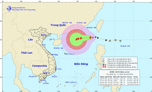Typhoon Aere keeps gaining strength in East Sea hinh anh 1